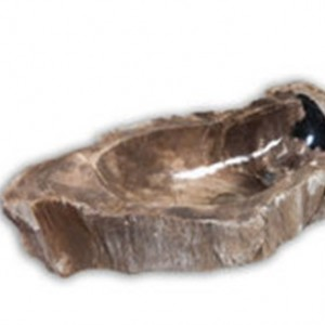 Vasque en bois pétrifié